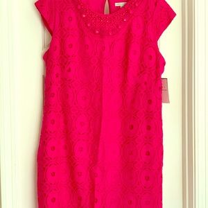 Sandra Darren Hot Pink Dress perfect for Easter